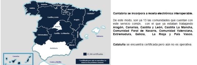 Cantabria se incorpora a receta electrónica interoperable