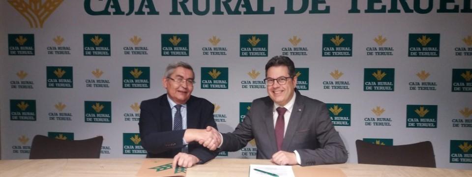 Firma convenio de colaboración Caja Rural de Teruel y  COFTeruel