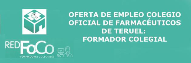 Oferta de empleo farmacéutico FoCo.
