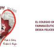 El Colegio Oficial de Farmacéuticos de Teruel les desea felices fiestas del Ángel.