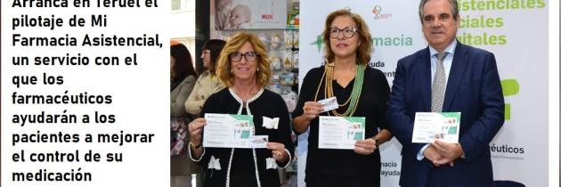 Arranca en Teruel el pilotaje de Mi Farmacia Asistencial, un servicio con el que los farmacéuticos ayudarán a los pacientes a mejorar el control de su medicación