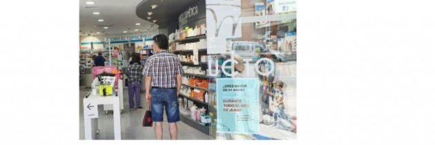 Las farmacias turolenses distribuyen mascarillas a la población mayor de 65 años y pacientes vulnerables